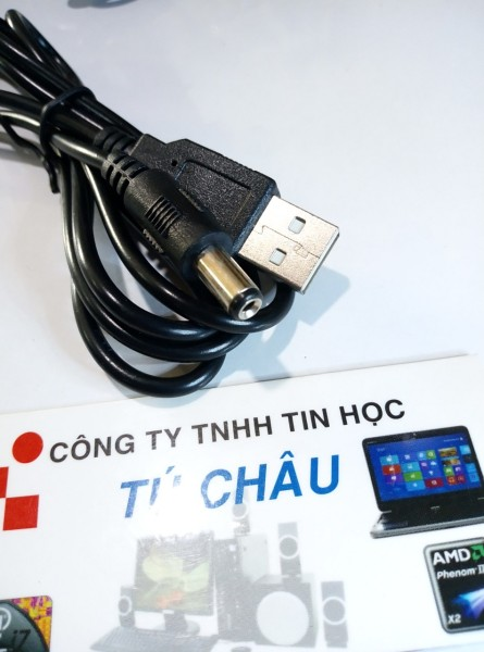 Bảng giá Cáp nguồn USB ra đầu tròn Lớn - Chuẩn đầu cắm: 5.5mm X 2.1mm Phong Vũ