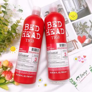 Bộ Dầu Gội, Dầu Xả Phục Hồi Tóc Bedhead Tigi Resurrection Shampoo & Conditioner (750ml x2) thumbnail