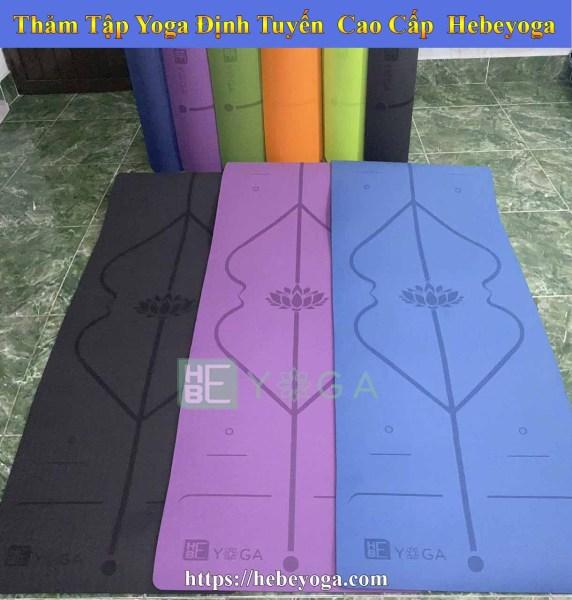 Thảm Tập Yoga Định Tuyến Hebeyoga TPE 6mm và 8mm 1 Lớp Cao Cấp Kèm Túi