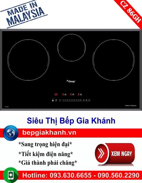 Bếp từ 3 vùng nấu Canzy CZ 86GH nhập khẩu Malaysia, bếp từ, bếp điện từ, bếp từ đôi, bếp điện từ đôi, bếp từ giá rẻ, bếp điện từ giá rẻ, bếp từ đơn, bep tu don, bep tu