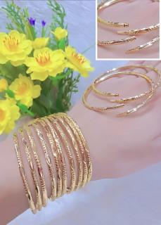 Bộ vòng ximen mạ vàng thật JK Silver 7 chiếc cao cấp, vòng ximen bản 2 li khóa vàng thật, trang sức vàng non 10K,cam kết không đen, đeo cực sang chảnh, trang sức hottrend TH.ximen36 thumbnail