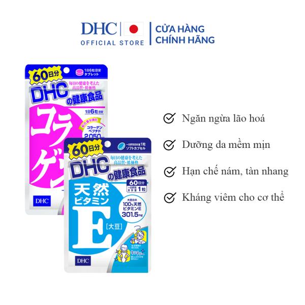 Combo Viên Uống DHC Đánh Thức Tuổi Xuân 60 Ngày (VitaminE & Collagen)