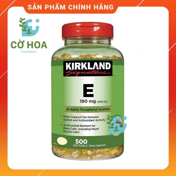 [HCM]Viên bổ sung Vitamin E Kirkland Signature 180mg - Hộp 500 viên