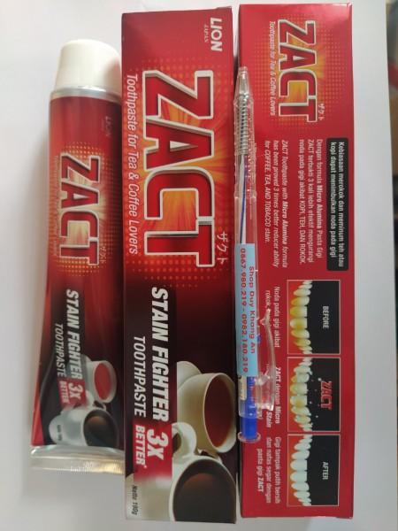 Kem đánh răng Zact 190g (Đặc biệt dành cho người uống trà, cafe, hút thuốc lá)