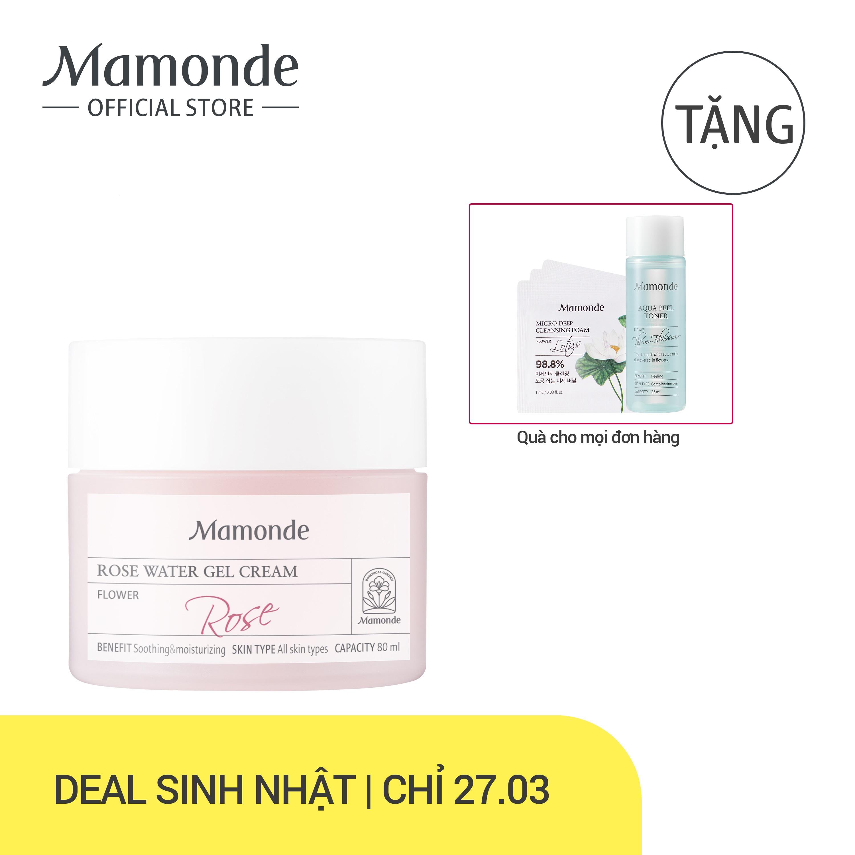 Kem dưỡng ẩm dịu da dạng gel hoa hồng Mamonde Rose Water Gel Cream 80ml nhập khẩu