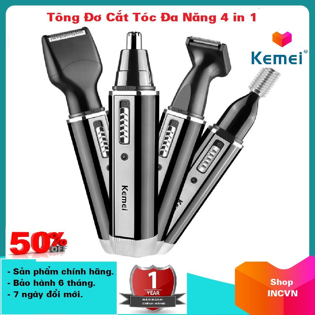 Tông đơ cắt tóc đa năng 4 in 1 Cắt tóc, cạo râu, tỉa lông mũi và tỉa lông mày chuyên nghiệp Kimei KM 6630