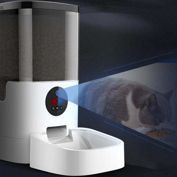 Video Máy cho chó mèo ăn tự động 6L có app điều chỉnh lập trình được khoảng 39 PHẦN ĂN, Máy để thức ăn chó mèo, thú cưng