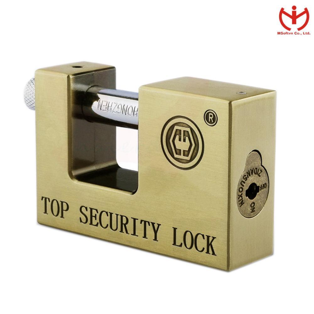 Ổ khóa chống cắt Anboud E9-90 (Vàng đồng)