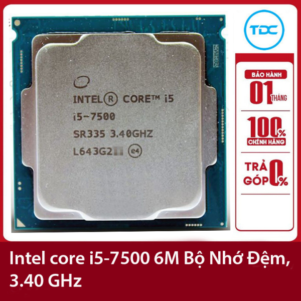 Bảng giá Bộ vi xử lý Intel CPU Core i5-7500 3.40GHz ,65w 4 lõi 4 luồng, 6MB Cache Socket Intel LGA 1151 Phong Vũ