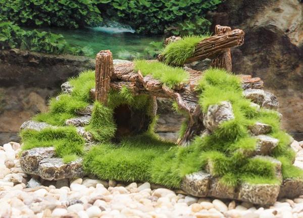 Cầu Đá Phủ Rêu - TẶNG 1 SAO BIỂN - Trang Trí Thủy Sinh - Hang Cá Thủy Sinh