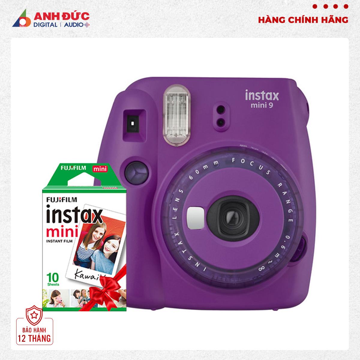 Voucher Khuyến Mãi Máy ảnh Chụp Lấy Liền Fujifilm Instax Mini 9 + Phim Instax ColorFilm Mini 10X2/PK