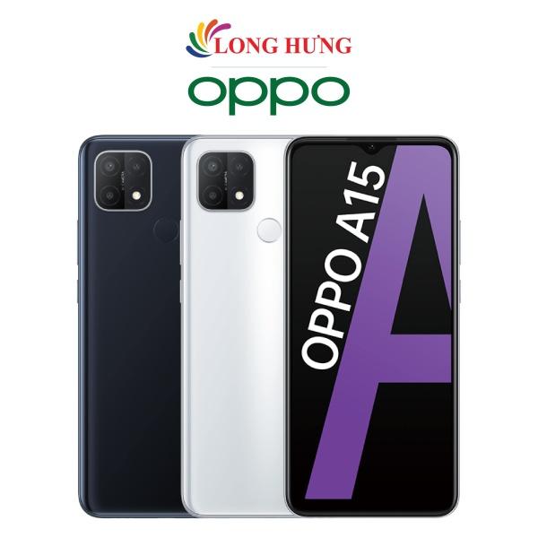 Điện thoại Oppo A15 (3GB/32GB) - Hàng chính hãng - Màn hình 6.52inch HD+ bộ 3 Camera sau Pin 4230mAh Cảm biến vân tay nằm ở mặt lưng