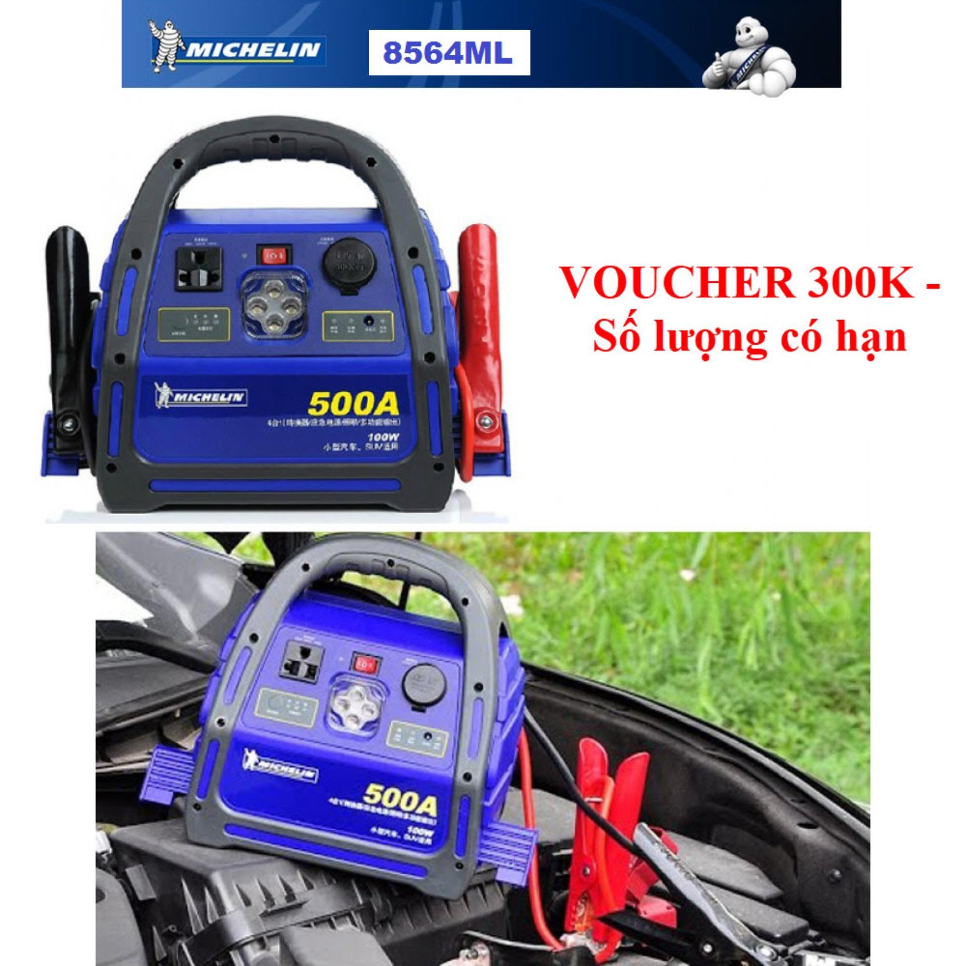 Bộ Kích nổ ô tô chuyên dụng Michelin 8564ML 500A (Hàng công ty nhập khẩu và phân phối) - Bảo hành 12 tháng