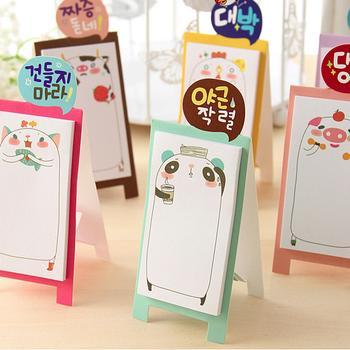 Mua Combo 5 tập giấy note ghi chú đứng Hàn Quốc hoạt hình dễ thương