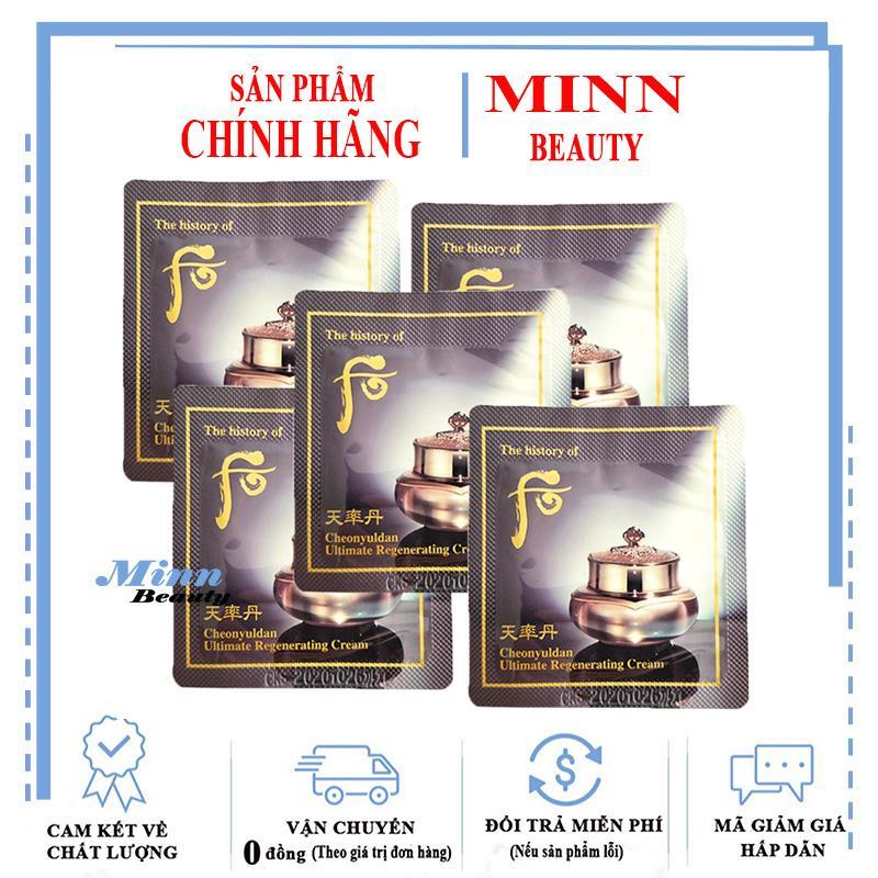 Combo 5 Kem Dưỡng Sáng Da Ngăn Ngừa Lão Hóa Whoo Cheonyuldan Ultimate Regenerating Cream 1mlx5 Giảm Giá Khủng