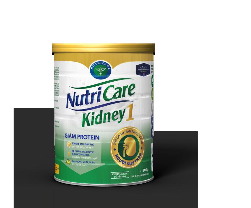 Sữa bột Nutricare Kidney 1 - dinh dưỡng cho người suy thận, tiền chạy thận nhân tạo (900g) cao cấp