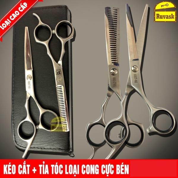 ( BẢO HÀNH LỖI 1 ĐỔI 1) Bộ kéo cắt tỉa tóc cao cấp,Bộ Kéo Cắt Tóc Bền Đẹp, Giá Rẻ,Bộ 2 kéo cắt tóc và kéo tỉa tóc siêu bền đẹp,Bộ Kéo Cắt Tóc Nam Cao Cấp Giá Rẻ  vừa túi tiền cao cấp