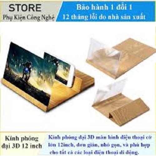 Giá Kính phóng đại 3D/4D màn hình điện thoại Cỡ lớn 12inch, Xem phim 3D/4D tại nhà Full HD gấp gọn