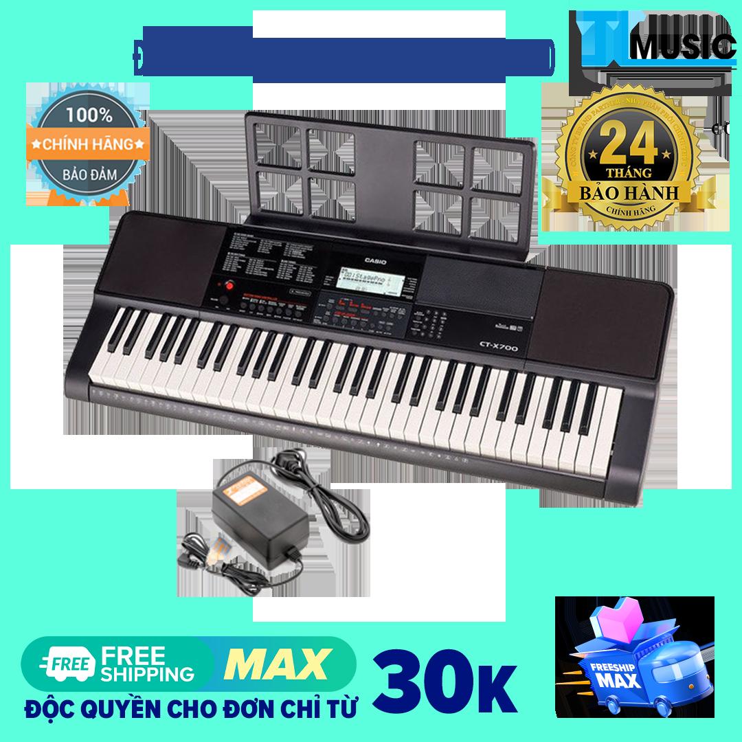 [Chính hãng] Đàn Organ Casio CTX700 Kèm Nguồn + Giá nhạc (Casio Keyboard CTX 700)