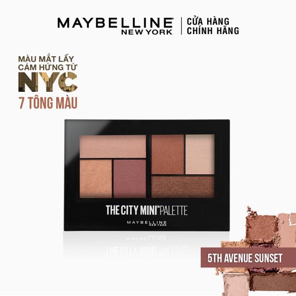 Bảng phấn mắt mịn lì lên màu chuẩn Maybelline New York City Mini Palette 6 màu [Mới] cao cấp