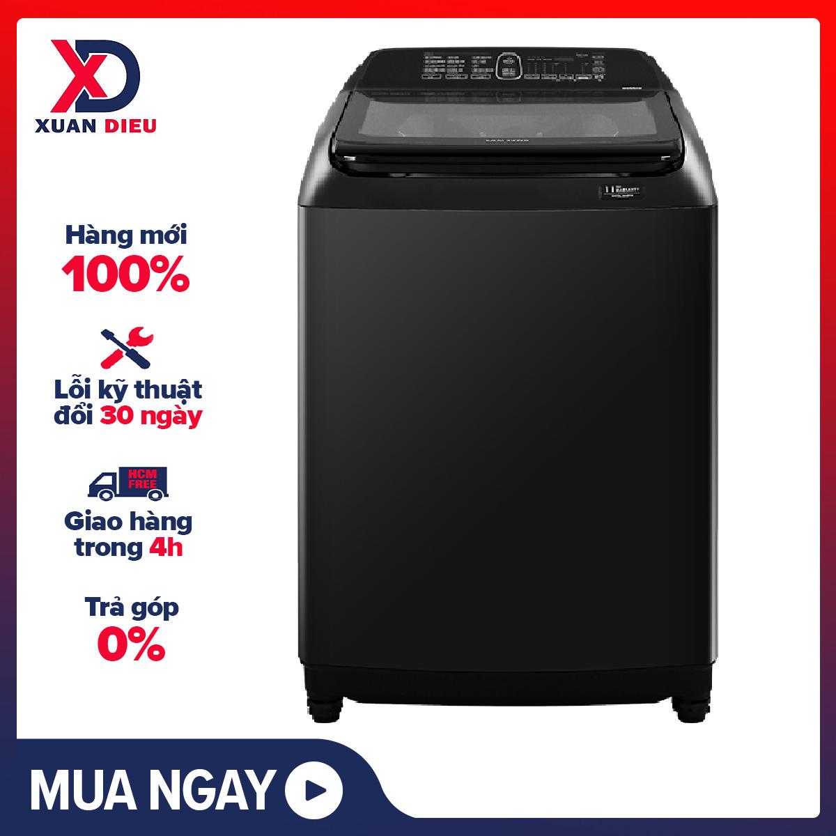 TRẢ GÓP 0% - Máy giặt Samsung Inverter 16 kg WA16R6380BV/SV Mới 2020. Công nghệ Intensive Wash đánh tan xà phòng giúp tăng khả năng thẩm thấu vào sợi vải, Bộ lọc xơ vải Magic Filter, Hộp đánh tan bột giặt Magic Dispenser