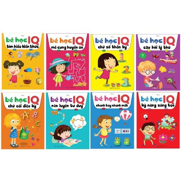 Sách -Bé Học IQ - Phát Triển Trí Tuệ Cho Bé (Bộ Túi 8 Cuốn )- Mhbooks