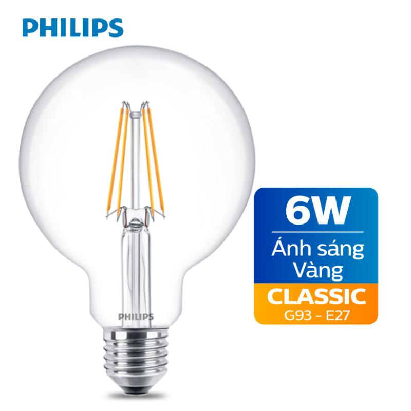 Bóng đèn Philips LED Classic 6W 2700K E27 G93 - Ánh sáng vàng