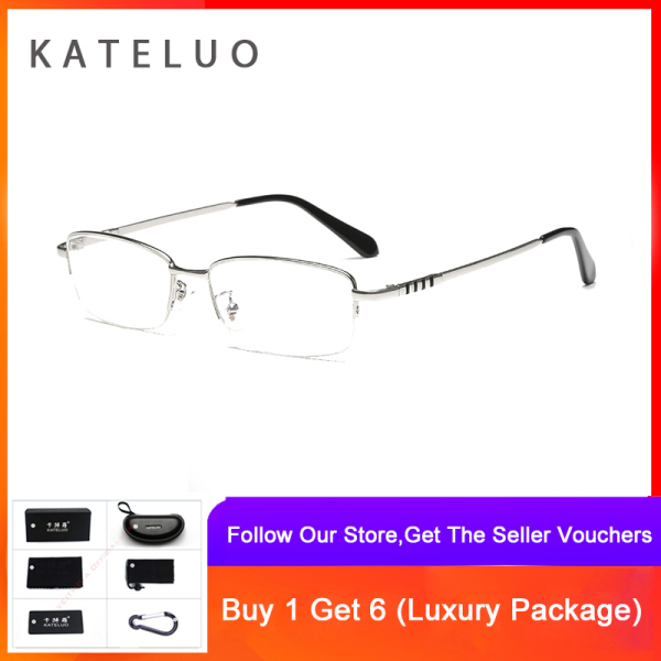 Mua KATELUO 2020 Mens Computer Glasses Anti Blue Light Fatigue Radiation-resistant Reading Glasses Frame Optical Eyeglasses 8801