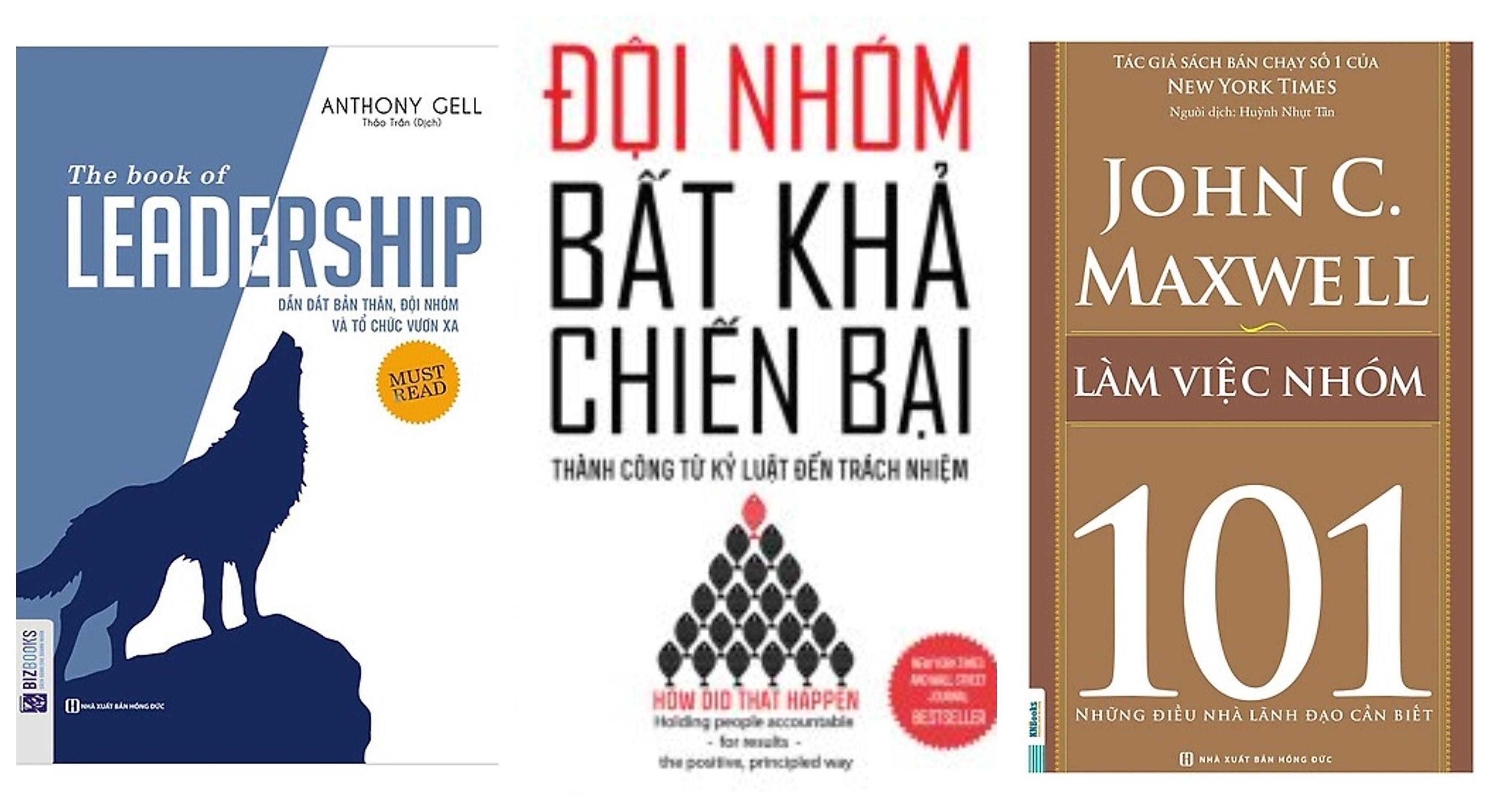 Mua Combo 3 cuốn sách :+ leadership dẫn dắt bản thân,đội nhóm và tổ chức vươn xa,+ đội nhóm bất khả chiến bại thành công từ kỷ luật đến trách nhiệm,+101 làm việc nhóm
