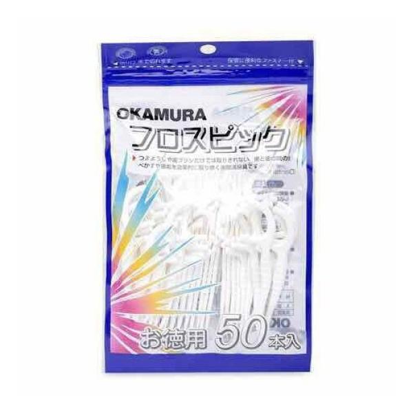 Tăm chỉ nha khoa chất lượng Nhật Bản Okamura (Bịch 50 cây/90 cây) giá rẻ