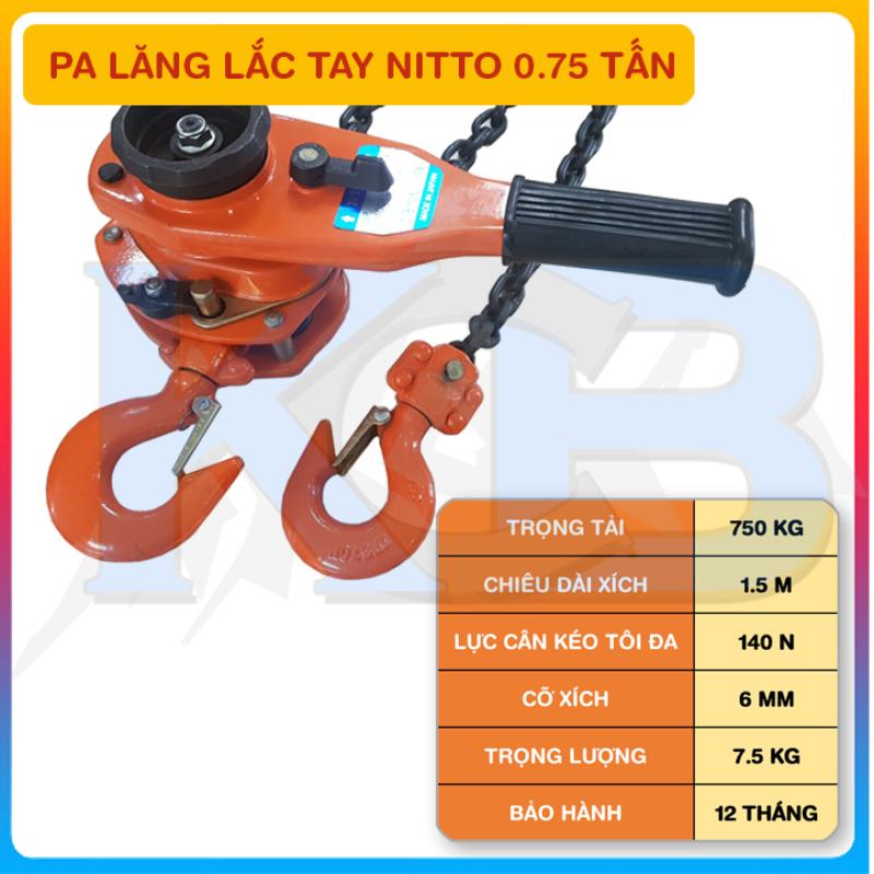 Pa Lăng Lắc Tay NITTO 0.75T x 1.5M