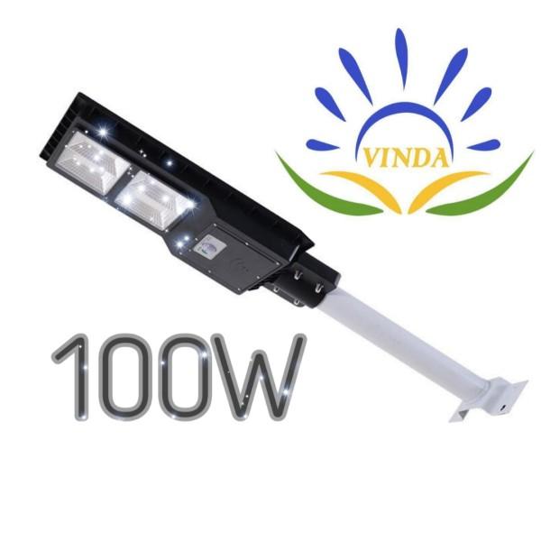 100W ĐÈN ĐƯỜNG NĂNG LƯỢNG MẶT TRỜI , TẤM PIN LIỀN THỂ , IP67 CHỐNG NƯỚC