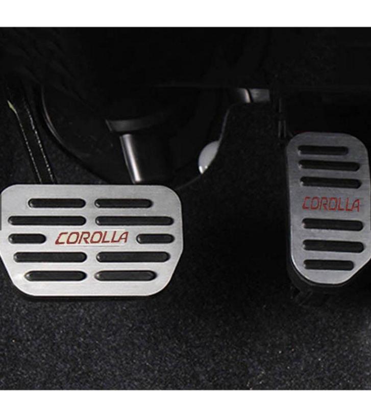 Bộ ốp bọc chân ga, chân phanh -Toyota Corolla Altis 2018-2021(hàng cao cấp)