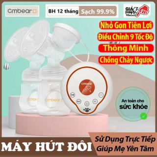 Máy hút sữa điện đôi massage cao cấp chính hãng CMBEAR chất liệu cao cấp không chứa BPA an toàn cho mẹ và bé - Massage nhiều chế độ - Mềm mại phù hợp mọi bầu ngực - Khởi động nhanh, hoạt động êm ái không tạo tiếng ồn - CMB23 thumbnail