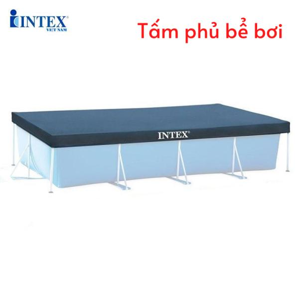 Tấm phủ bể khung kim loại chữ nhật Intex 28037/28038/28039 đủ size