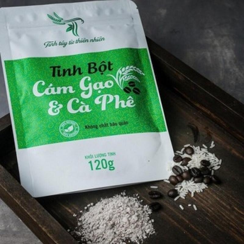 Tinh Bột Cám Gạo Cafe Dùng Cho Body Tẩy Tế Bào Chết, Tắm Trắng & Dưỡng Da