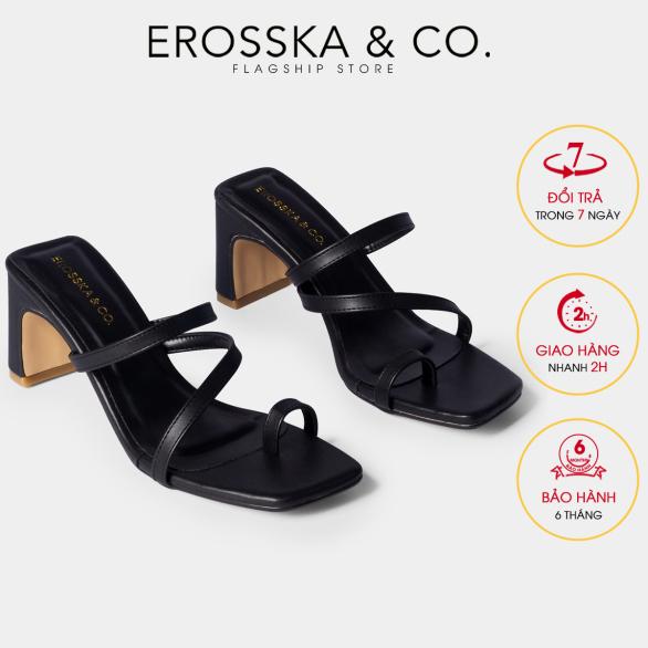 Dép cao gót xỏ ngón thời trang nữ Erosska phối dây mảnh kiểu dáng xỏ ngón hiện đại thích hợp đi chơi đi học EB023 (BA) giá rẻ