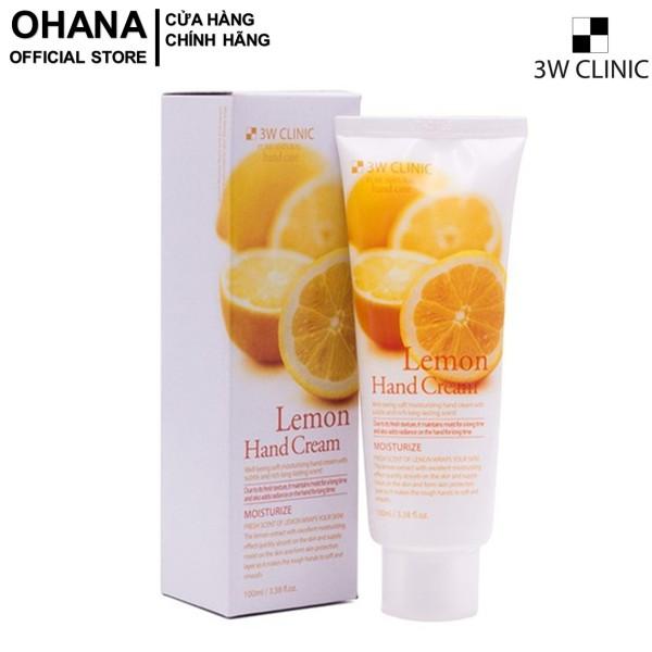 Kem Dưỡng Da Tay Chanh 3W Clinic Lemon Hand Cream 100ml cao cấp