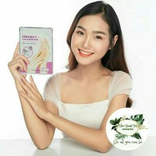 [ Đôi tay mềm như lụa] Set 10 mặt nạ dưỡng da tay Skinmate Collagen dưỡng ẩm & ngăn ngừa lão hóa da tay thumbnail