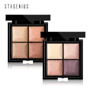 STAGENIUS Eye Shadow 4 Colors Eyeshadow Matte Glitter Smokey Shade Chic Eyes Makeup thumbnail