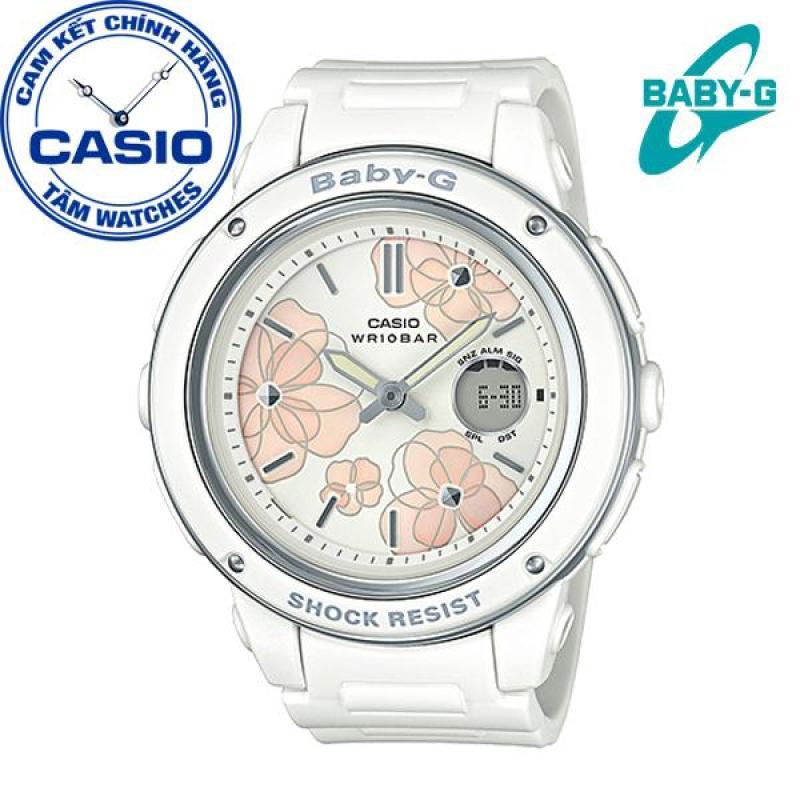 Đồng hồ nữ dây nhựa Casio Baby-G Anh Khuê BGA-150FL-7ADR