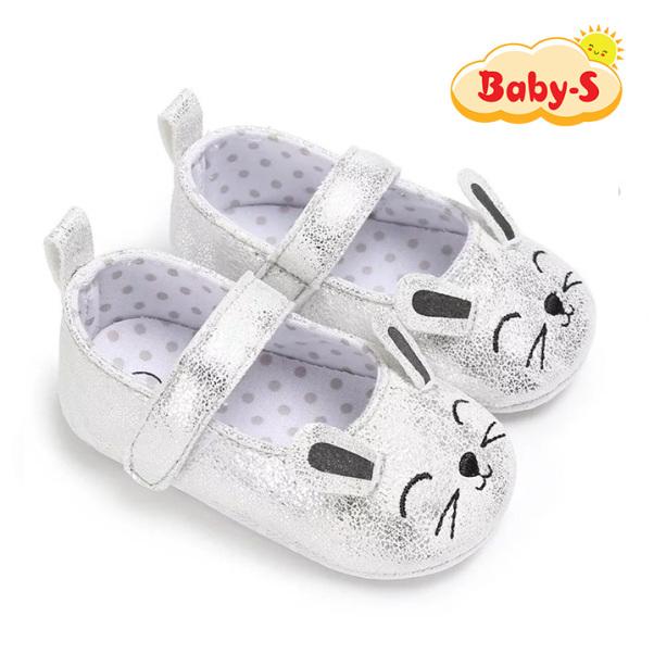 Giày tập đi búp bê cho bé gái 0-18 tháng tuổi chất da PU mềm nhẹ thân thiện cho bé tâp đi họa tiết hình thỏ đáng yêu Baby-S – STD18 giá rẻ