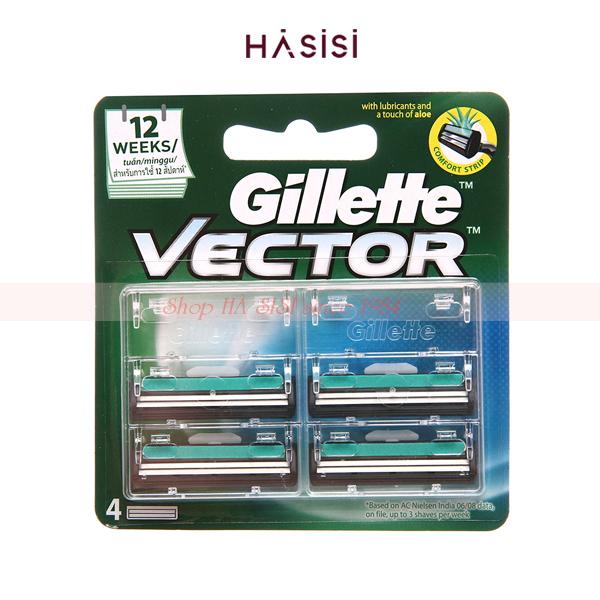 Lưỡi cạo râu Gillette - Vector (4 lưỡi)