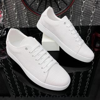 Giày thể thao nam da nhập Poly Synthetic thiết kế vân nổi thời trang LC19 2