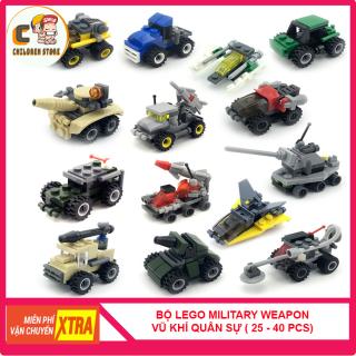 [RẺ VÔ ĐỊCH] Bộ Lego Lắp Ráp Xếp Hình Miilitary Weapon Children Store CS1014 Phát Triển Tư Duy Cho Bé, Nhựa ABS An Toàn Cho Trẻ Nhỏ ( Từ 25 - 40 Mảnh Ghép) thumbnail