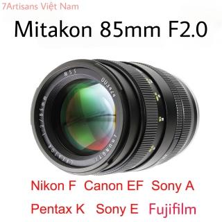 Ống kính Zhongyi Creator Mitakon 85mm F2 - Lens chân dung dành cho Fujifilm, Sony A, Sony E, Canon EF, Nikon F, Pentax K thumbnail