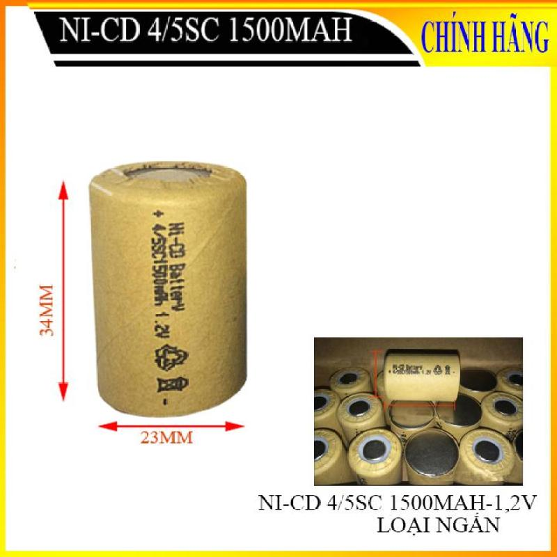Pin nikel cadium, pin Ni-CD 4 /5SC 1500mAh 1,2V (loại lùn 34mm) - Bán buôn