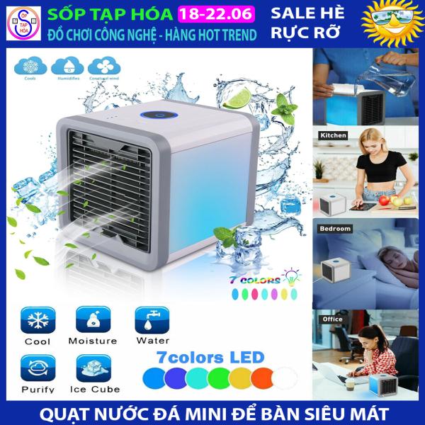 Quạt nước đá mini mát lạnh máy lạnh mini có đèn siêu phẩm mùa nóng tặng kèm dây nguồn sử dụng ngay