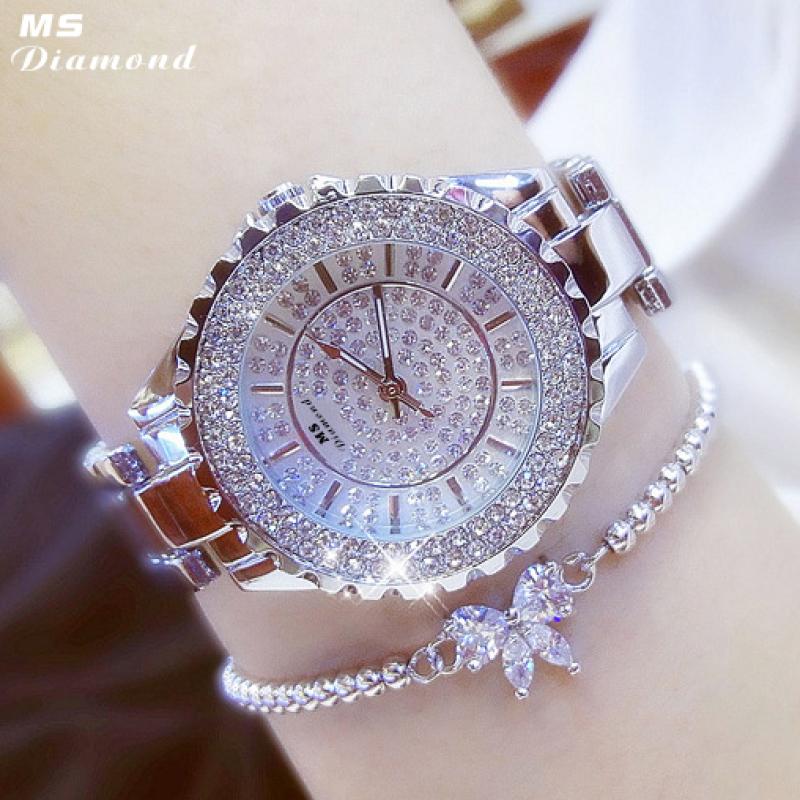 Nơi bán Đồng hồ nữ MS DIAMOND Khóa Bướm Cao Cấp - Hàng Nhập Khẩu Chính Hãng - Bảo Hành 12 Tháng
