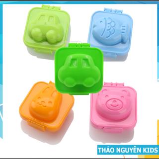 Bộ 5 khuôn cơm bento cho bé, khuôn bento ép cơm hộp, đậu hũ, làm bánh hình ngộ nghĩnh thumbnail